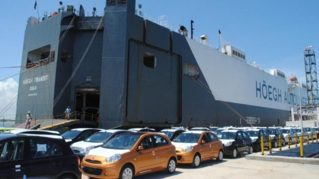 Cars Waiting To Be Shipped