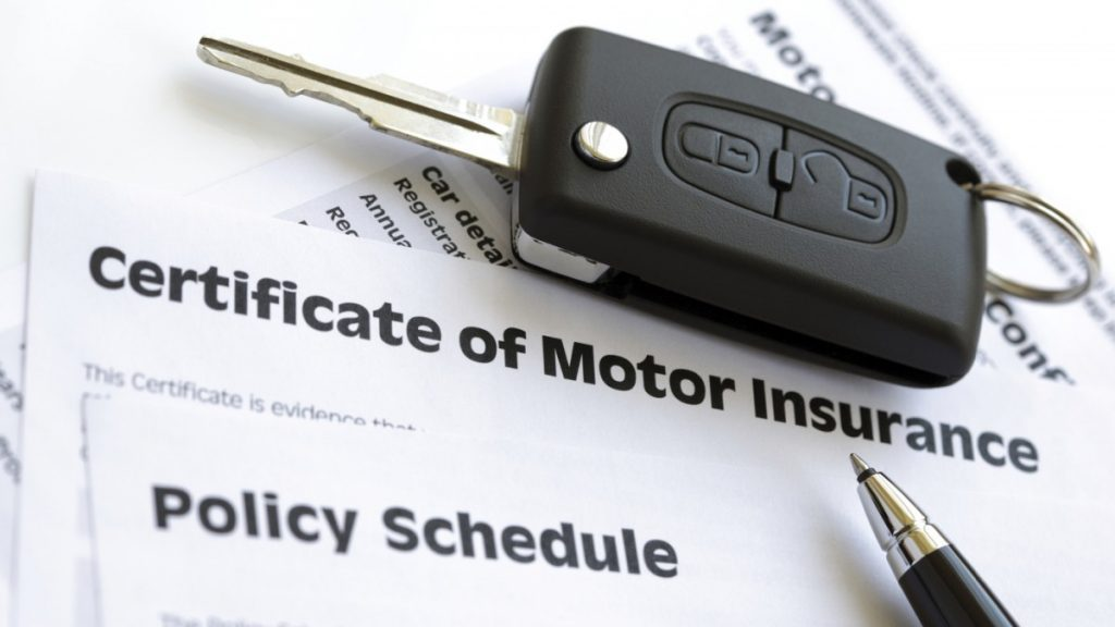 motor insurance document