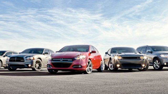 new cars in a line