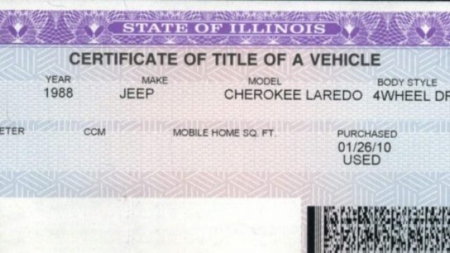 Vehicle Title