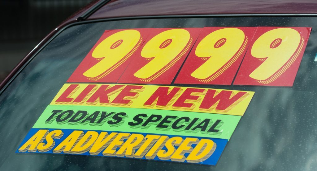 used-car-sign
