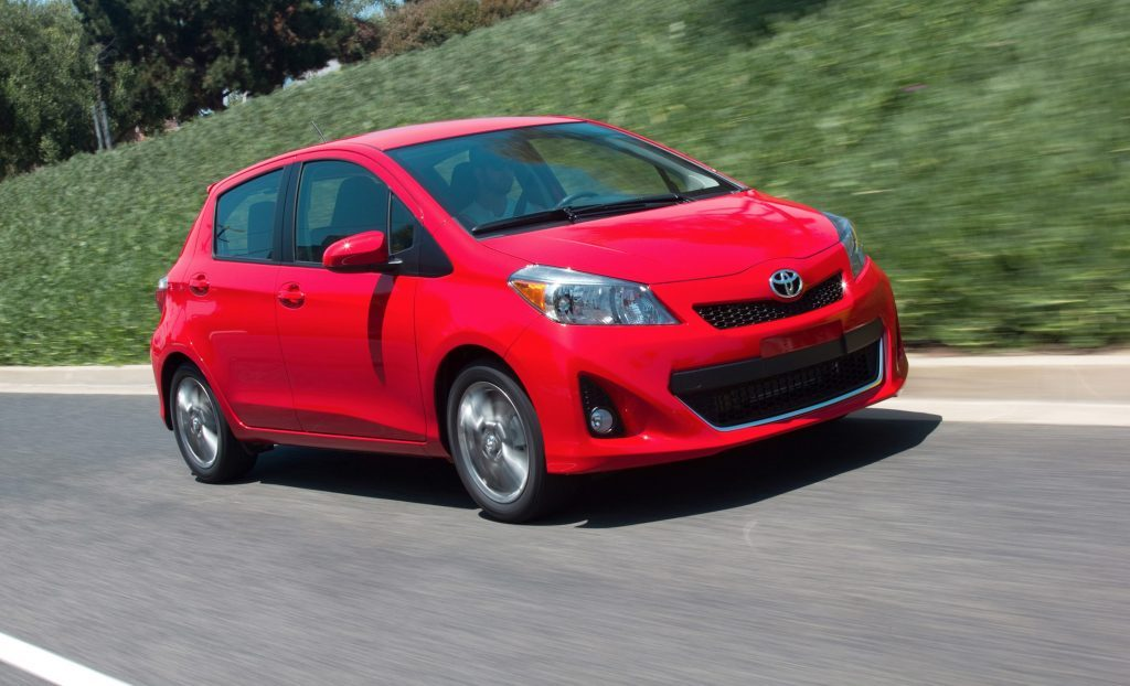 2012 Red Toyota Yaris